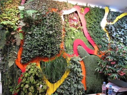 Mur végétal Moebius - Showroom des Jardins de Babylone
